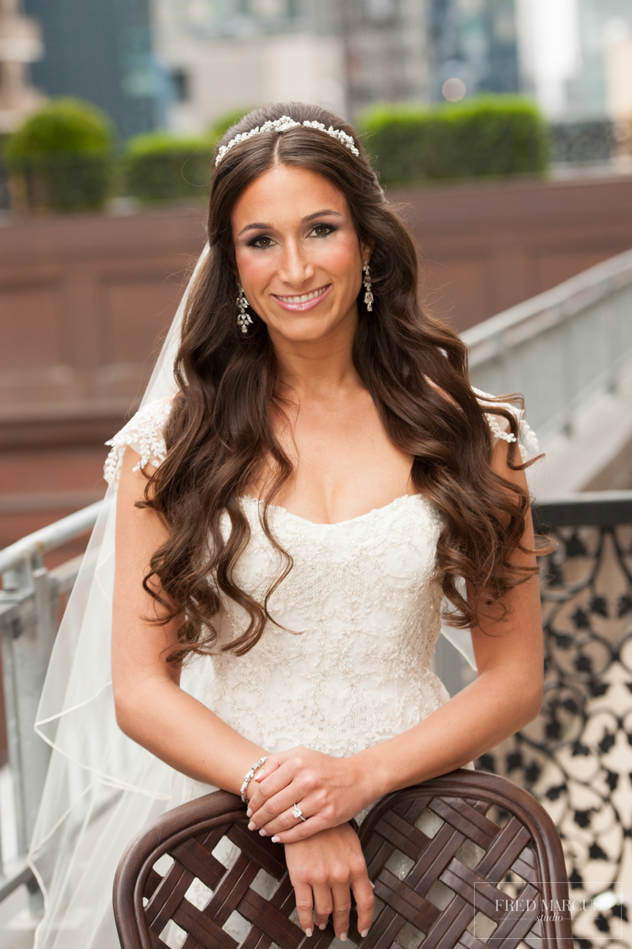 wedding hairstyles half up half down with headband and